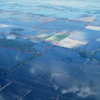 Aerial flood image - southern section incl Lignum wetland block